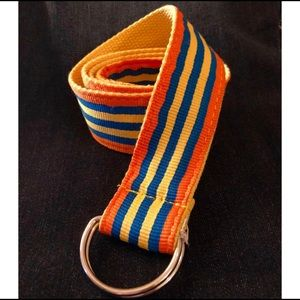 Accessories - Vintage Style Stripe Autumn Belt